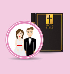 get married couple bible card greeting vector image vector image