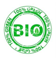 Grunge green stamp vector image