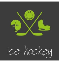 ice hockey sport commercial design banner and vector image