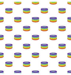 Rings in colours of lgbt pattern cartoon style vector