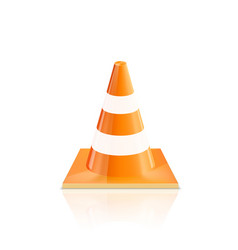 road cones icons on a white background vector image