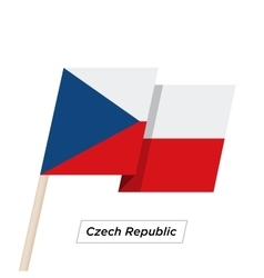 Czech Republic Ribbon Waving Flag Isolated on vector image