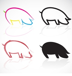 image of an pigs vector image vector image