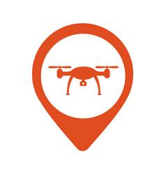 location icon drone flat eps 10 vector image vector image