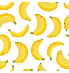 seamless pattern banana cartoon flat style vector image vector image