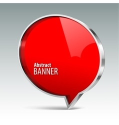 Shiny gloss red banner eps 10 vector image vector image