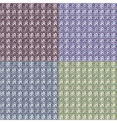 template knitting vector image