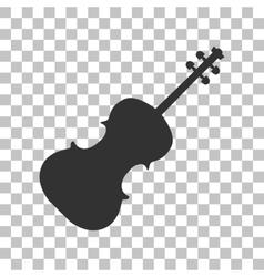 Violine sign Dark gray icon on vector image vector image