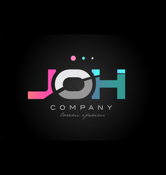 joh j o h three letter logo icon design vector image
