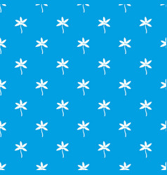 palm tree with coconuts pattern seamless blue vector image