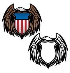 patriotic eagle with shield emblem vector image
