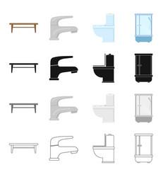 stylish furniturecoffee table furnishings in the vector image