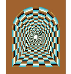 Abstract tunnel vector image vector image