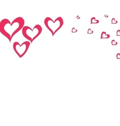 background with hearts for St Valentine day vector image vector image