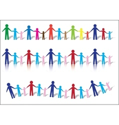Paper People Families vector image vector image