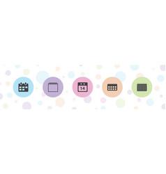 5 calendar icons vector