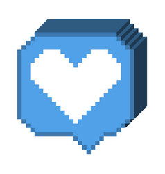 8 bit 3d like icon vector