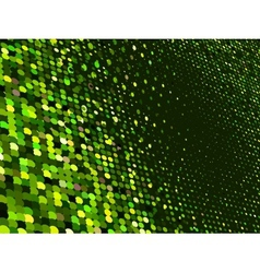 Abstract dot green mosaic background EPS 8 vector image
