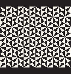Abstract geometric pattern in black and white vector