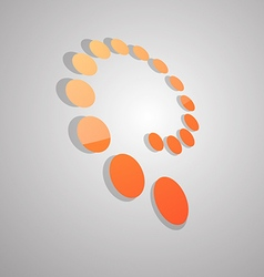 Abstract swirl dots logo icon vector image