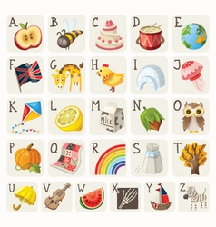 Alphabet for children vector