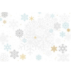 background with colorful pastel snowflakes vector image