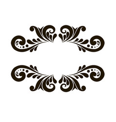 Beautiful patterned frame vector
