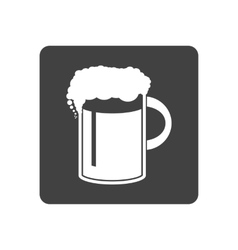 beer in mug icon Simple vector image