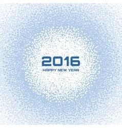 Blue - White Light New Year 2016 Snow Flake vector