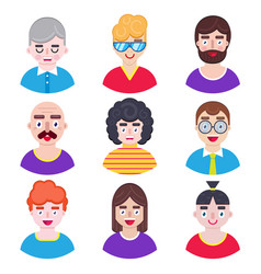 boys avatars in flat style vector image