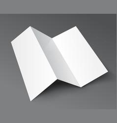 Brochure trifold blank leaflet mockup fold flyer vector