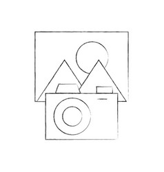 camera with picture file isolated icon vector image