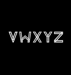 capital letters v w x y z created from vector image
