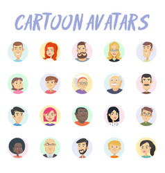 Cartoon avatars vector