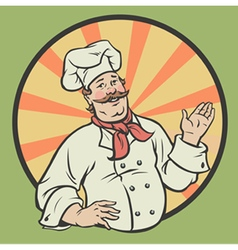 Chef in a retro style vector image