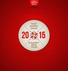 Christmas and New year greeting label vector image