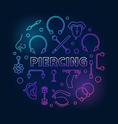 Colored piercing circular in vector