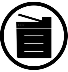 Copy machine icon vector