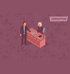 Corruption isometric design concept vector