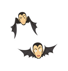 Count dracula flying as a bat vector