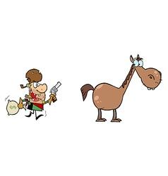 Cowboy cartoon vector image vector image