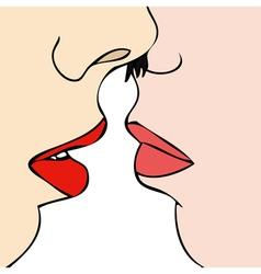 Desire between two women vector