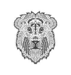 entangle stylized lion head vector image
