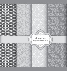 Floral pattern set geometric fabric seamless vector