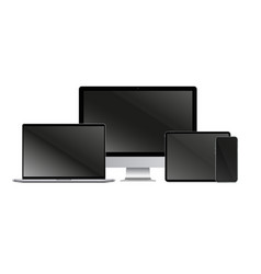 gadget screen set isolated realistic blank laptop vector image