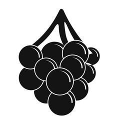 Grape icon simple style vector