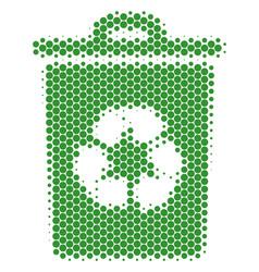 halftone dot recycle bin icon vector image