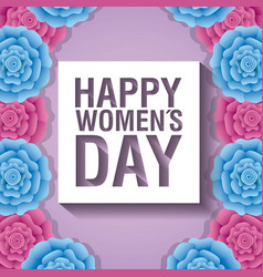 happy womens day celebration card vector image