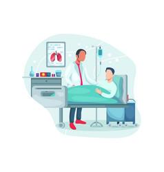 hospitalization patient vector image