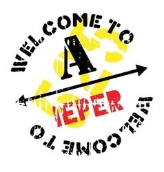 Ieper stamp rubber grunge vector